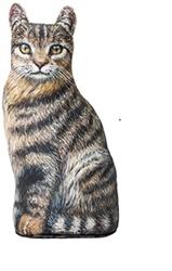 Tabby Cat Doorstop