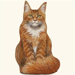 Marmalade Maine Coon Cat Doorstop