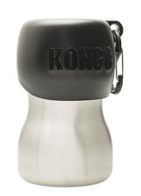 Kong 9.5 oz Stainless Steel Dog Water Bottle - Black