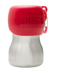 Kong 9.5 oz Stainless Steel Dog Water Bottle - Red