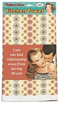 Bad Relationship Kitchen Towel
