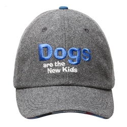 BARKOLOGY® DOGS ARE THE NEW KIDS - GRAY FLANNEL