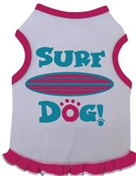 Surf Dog - Tank Dress - White/Hot Pink
