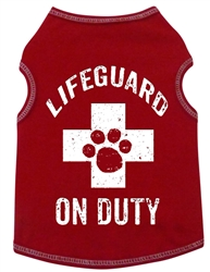 Lifeguard On Duty - Tank - Red