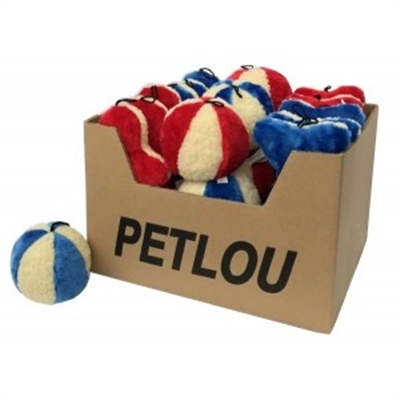 "Value Pet Toys!  Assorted Fleece 8"" Man, 8"" Bone, 5"" Ball - Plush Fleece"