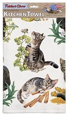 Tabby Kittens Kitchen Towel