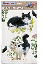 Black & White Kittens Kitchen Towel