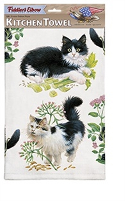 Black & White Kittens Kitchen Towel
