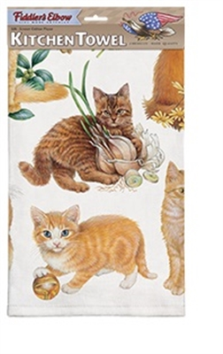 Orange Kittens Kitchen Towel