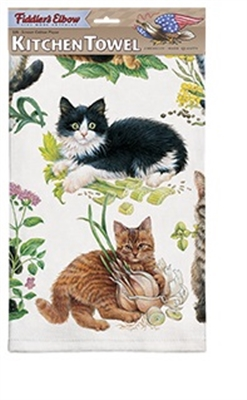 Mixed Kittens Kitchen Towel