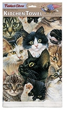 Kitten Faces Kitchen Towel