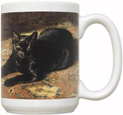 Sun Bath Cat 15oz Mug
