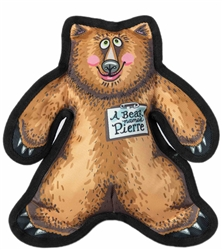 "A Bear Named Pierre Dog Toy - 11"" Wild Woodies"