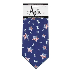Aria Bone in the USA Dog Bandanas