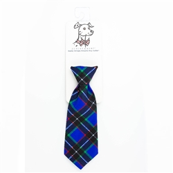Blueberry Plaid Long Tie by Huxley & Kent