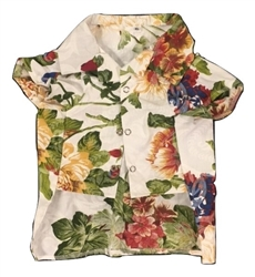Hawaiian Shirt White Floral