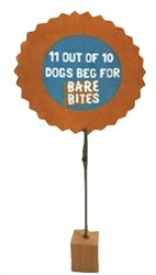 11 Out of 10 Dogs Beg for Bare Bites Point of Sale Sign