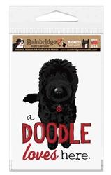 Doodle (Black Dog) Magnet