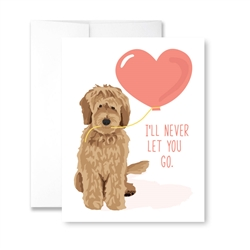I'll Never Let You Go (Doodle) Greeting Card- Pack of 6 cards