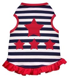 Stars and Stripes - Dress - Navy/White Stripes