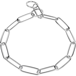 Herm Sprenger - Long Link Fur Saver Collar - Chrome