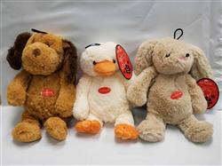 "Bulk Plush Toys - 10"" Toys, Assorted Dog, Bunny and Ducks! New - Bargain!"