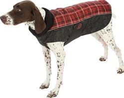 ULTRA PAWS COMFORT COAT RED PLAID WITH ULTRA REFLECTIVE FABRIC (10 SIZES/ 2 GREAT COLORS)
