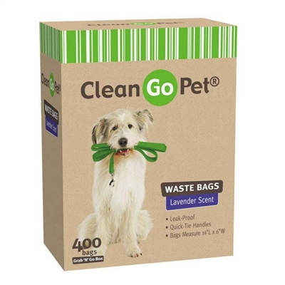 Clean Go Pet Lavender Scent Doggy Waste Bags - bulk boxes