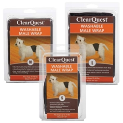 Clear Quest™ Washable Male Wraps, Black
