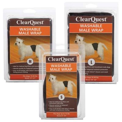 Clear Quest™ Washable Male Wraps, Black