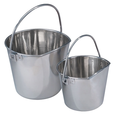 ProSelect® Flat Sided Stainless Steel Pail