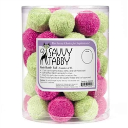 Savvy Tabby® Knit Rattle Balls Canister, 45 pc