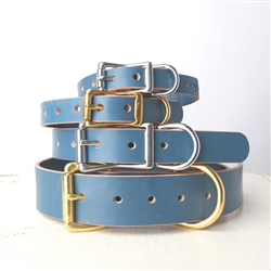 Handmade Classic Leather Dog Collar - Belt Buckle Style - 4 Colors