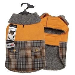 Zack & Zoey® ThermaPet Plaid Duck Coat