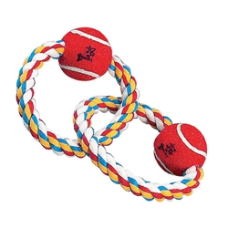 Zanies® Twin Loop Rope Tennis Ball Toy