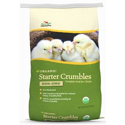 Manna Pro Poultry Feed Organic Starter Crumble 30 lb