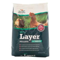 Manna Pro Poultry Feed 16% Layer Pellet with Probiotic 8 lb