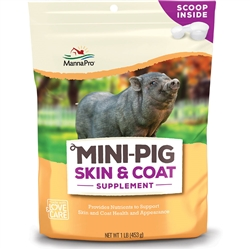 Manna Pro Mini Pig Skin & Coat Supplement 1 lb bag