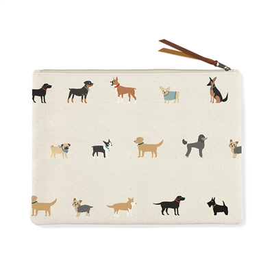 LARGE HAPPY BREEDS CANVAS POUCH