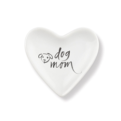 DOG MOM TINY HEART CERAMIC TRAY
