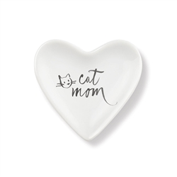 CAT MOM TINY HEART CERAMIC TRAY