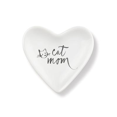 CAT MOM TINY HEART CERAMIC TRAY