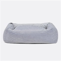 Engineer Stripe Square Snuggler Dog Bed
