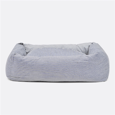 Engineer Stripe Square Snuggler Dog Bed