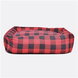 Buffalo Plaid Square Snuggler Dog Bed
