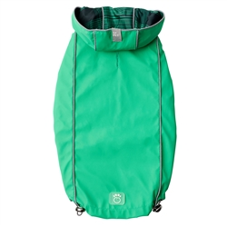 Green Reversible Raincoat by GF Pet