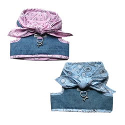 Cloak & Dawggie Denim Scarf Tie Vest Harness 4900 series