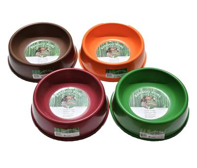 Red Bamboo Bowls - For Dogs