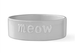 MEOW SCULPT GRAY PET BOWL - Small
