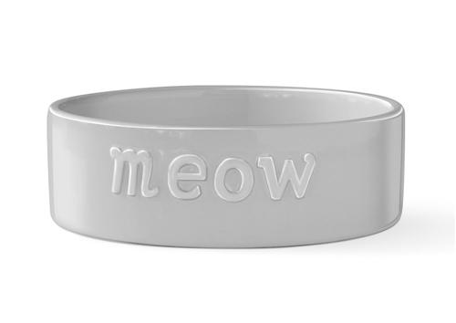 MEOW SCULPT GRAY PET BOWL - Small